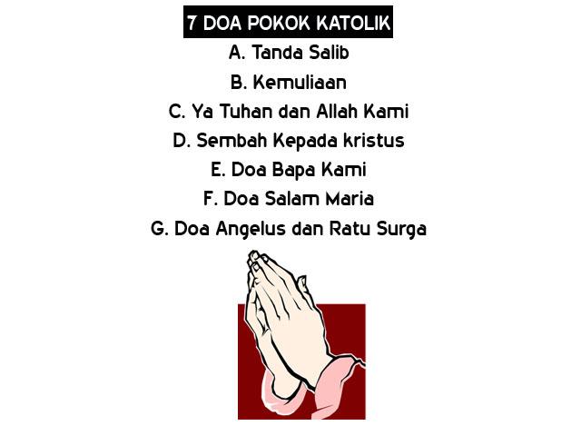 tangan doa kristen, doa pokok katolik roma