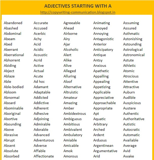 adjectives that start with the letter s a copywriter s a adjectives list of adjectives 20397