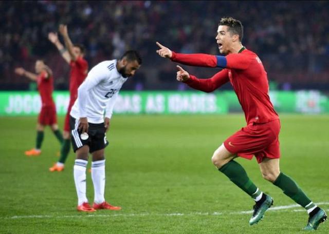 Portugal Vs Mesir, Cristiano Ronaldo Cetak 2 Gol, Mohamed Salah Hanya 1