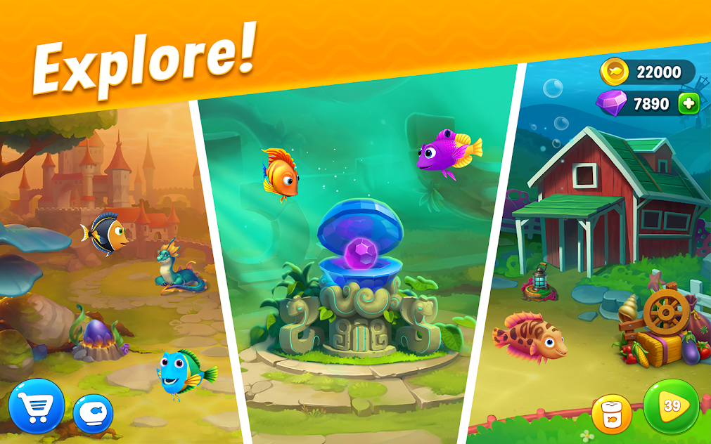 Fishdom MOD APK 4.75.0 [Unlimited Money, Coins, Gold] 2