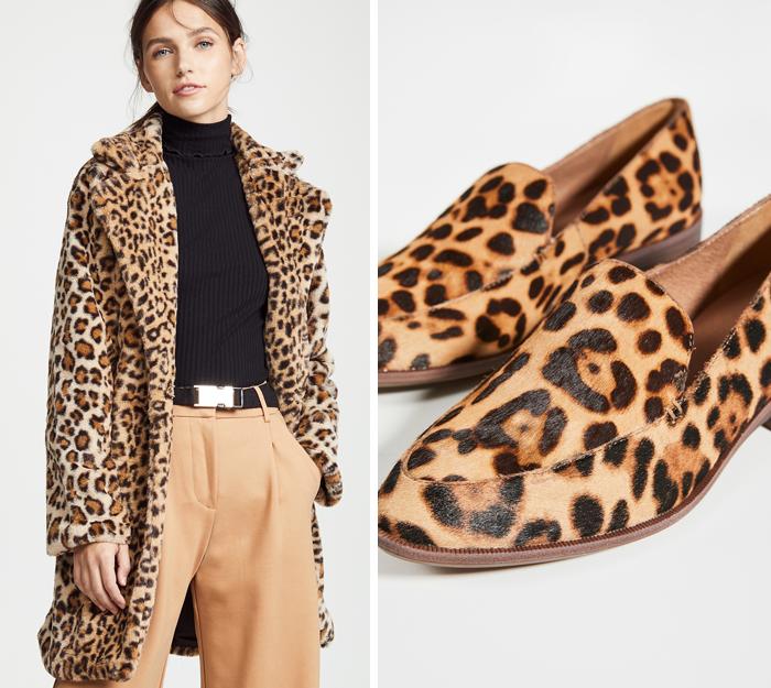 leopard jacket leopard loafers shopbop