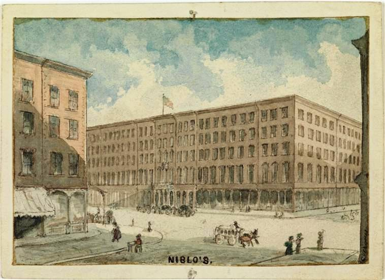 An Unidentified Artist Captured The Hotel In Watercolor Around 1875 From Collection Of Museum City New York