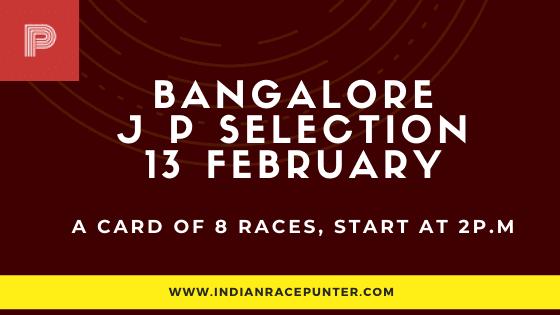 Bangalore Jackpot Selections 13 February