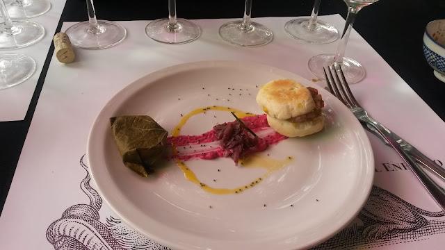 Outro prato de entrada na vinícola El Enemigo, em Mendoza, Argentina.