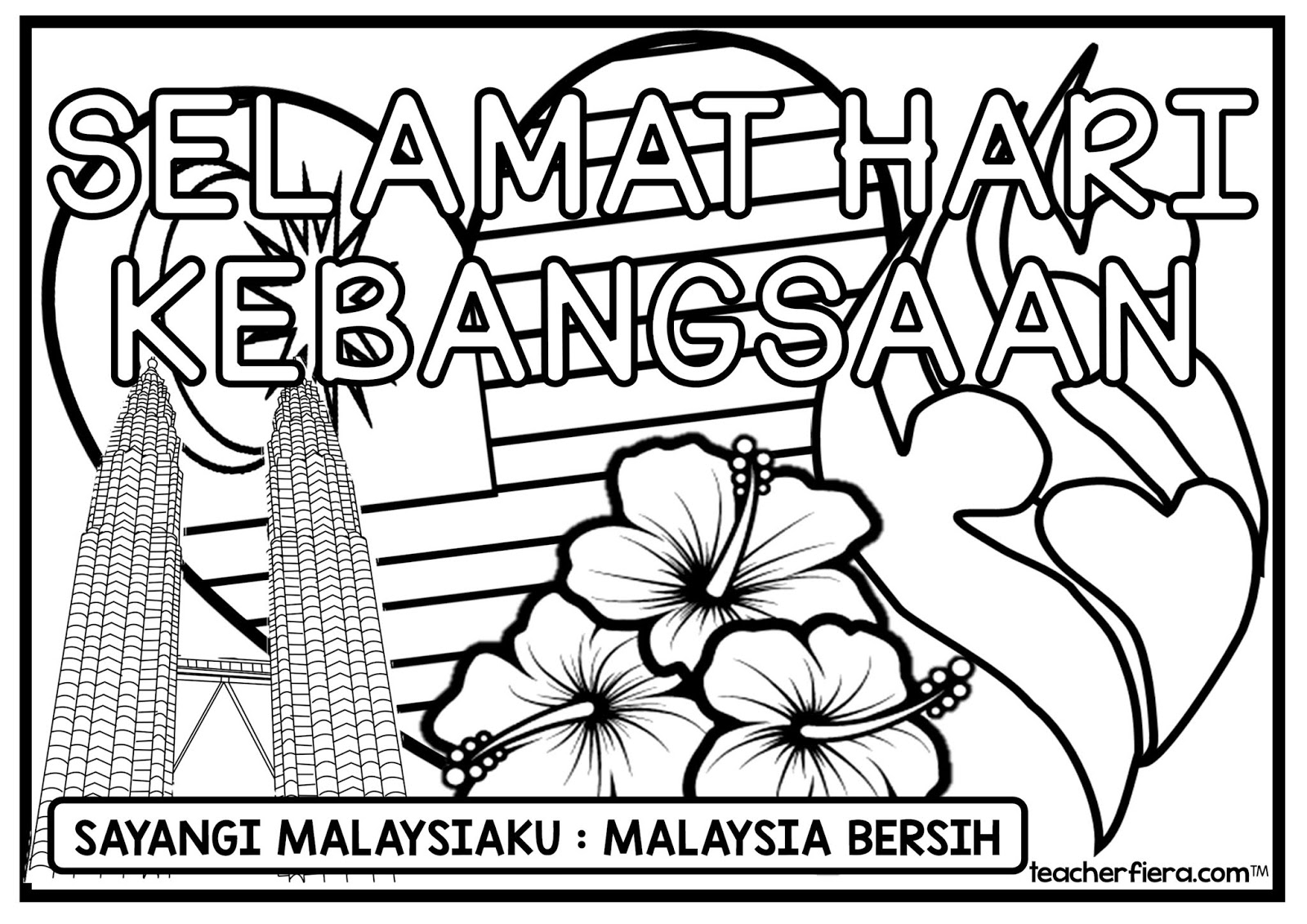 teacherfieracom COLOURING SHEETS MALAYSIA INDEPENDENCE