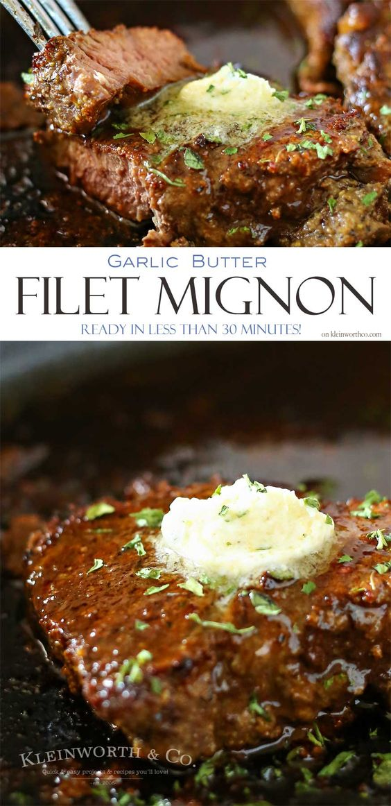 Garlic Butter Filet Mignon