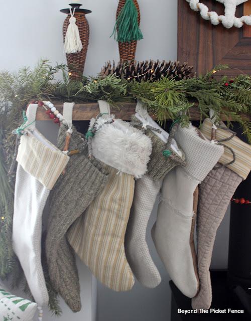 Natural Boho Stockings and Stocking Tags