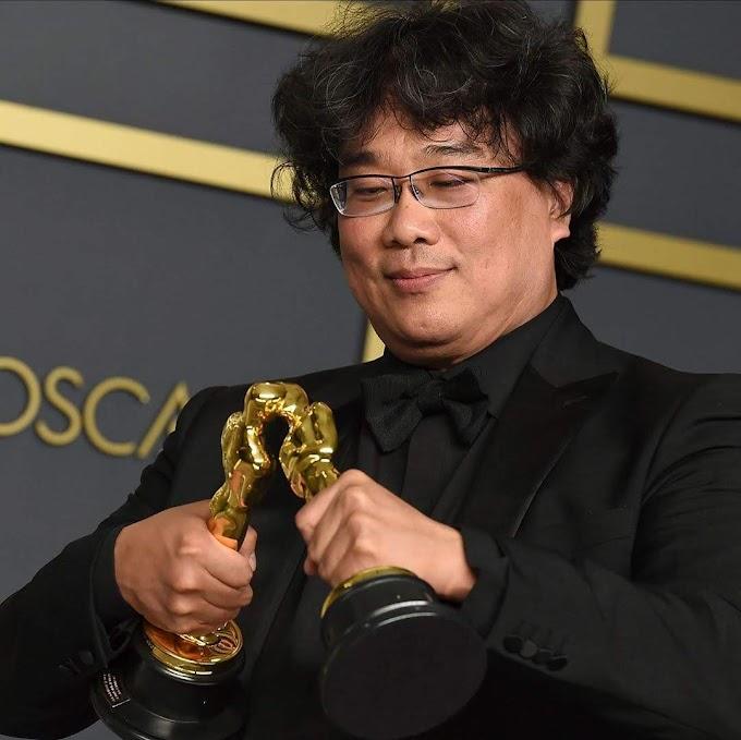 外国映画がアカデミー賞を制覇‼️という以前なら考えられない歴史的偉業を達成した「パラサイト」が最多の計4部門で受賞し、複数のオスカーさんをもらったので、チュッチュ👨❤️💋👨させて、よろこびの感激を現わしていたポン・ジュノ監督‼️😂