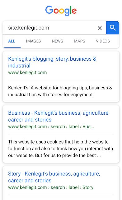 kenlegit google listing screenshot