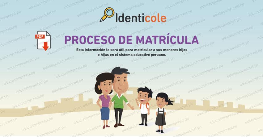 PROCESO DE MATRÍCULA 2021: Guía oficial del Ministerio de Educación para la Matricula Escolar a Nivel Nacional (.PDF)