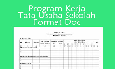 Program Kerja Tata Usaha SD SMP, SMA, SMK Tahun 2018