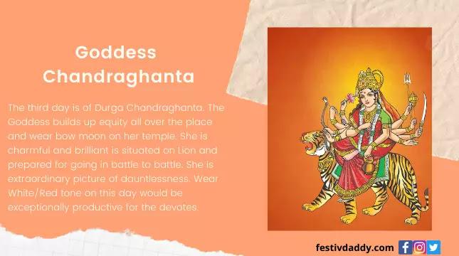 Goddess Chandraghanta Navratri Third Day of Colors