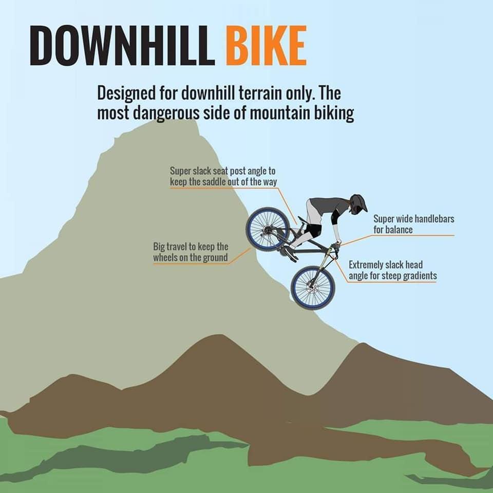 Downhill bicycle bike cycling