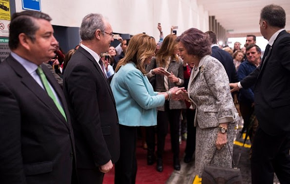 Queen Sofia attends the ceremony to mark the 40th anniversary of the Reina Sofia University Hospital