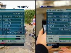 Frekuensi Trans TV dan Trans7 di Satelit Telkom Update Terbaru