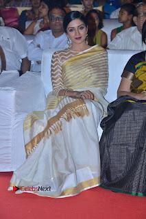 Actress Vimala Raman Stills in White Silk Saree at Om Namo Venkatesaya Audio Launch Event  0006.JPG