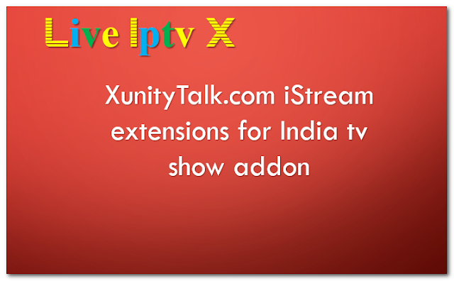 iStream extensions for India tv show addon
