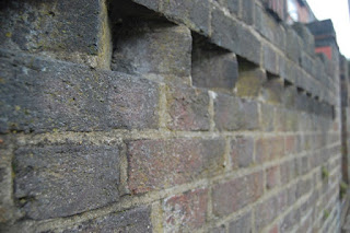 Brick wall toothing detail