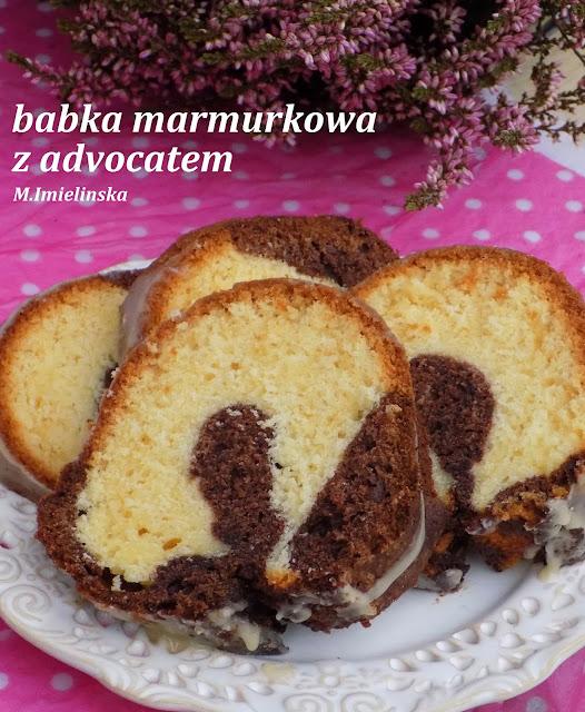 Domowa Cukierenka  Domowa Kuchnia babka marmurkowa z advocatem