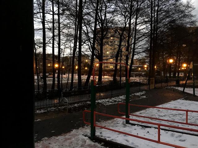 Gdynia - park wieczorem
