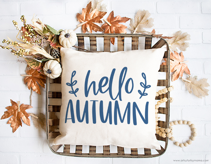 "Free ""Hello Autumn/Hello Fall"" Farmhouse SVG Cut File"