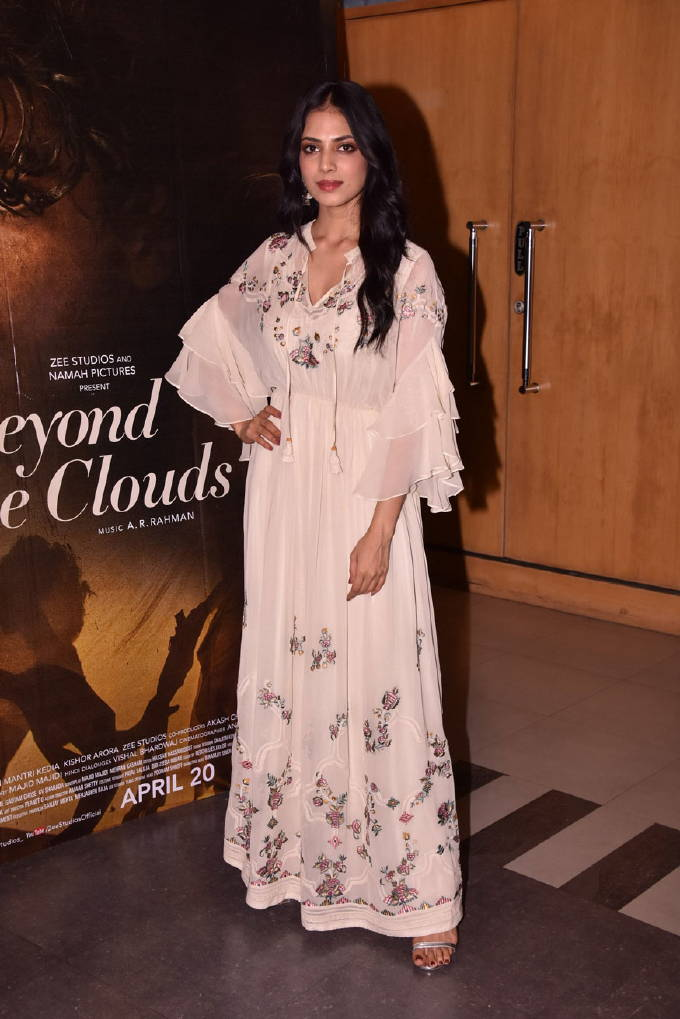 Malavika Mohanan in white dress