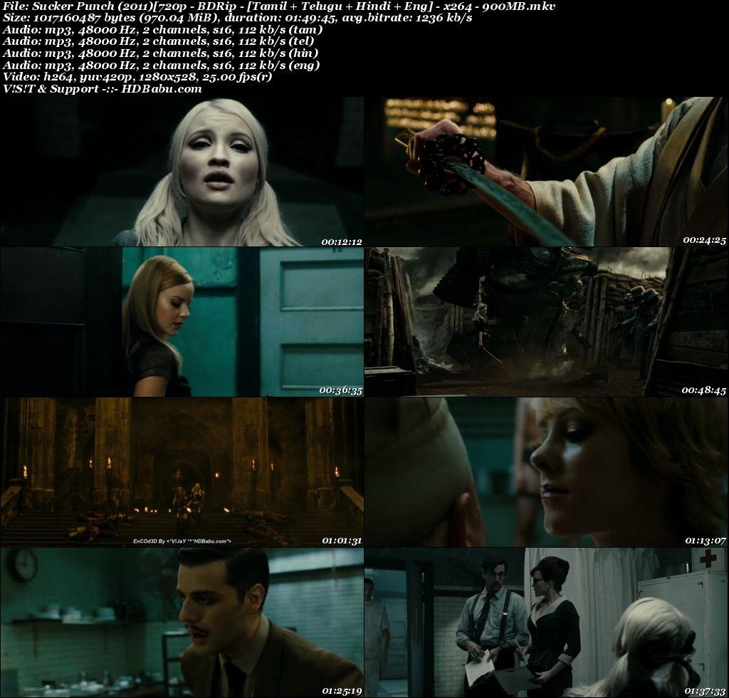 Sucker Punch (2011)[720p - BDRip - [Tamil + Telugu + Hindi + Eng] - x264 - 900MB Screenshot