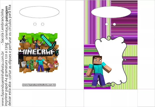 Minecraft Party Free Printable Boxes.