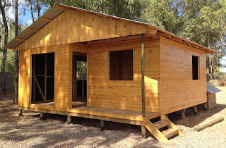 cabaña prefabricada azocar 38,44 metros cuadrados