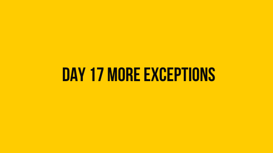 HackerRank Day 17 More Exceptions 30 days of code solution