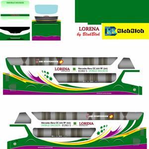 Livery Bussid Sumatera Lorena Bimasena SDD