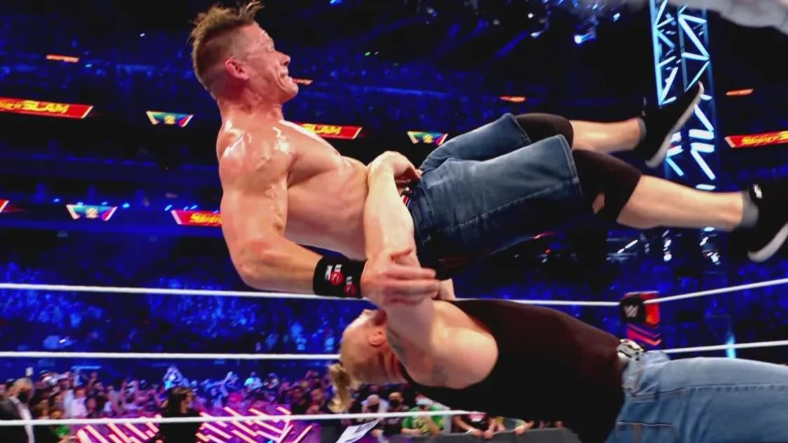 WWE publica vídeo com o ataque de Brock Lesnar em John Cena no SummerSlam