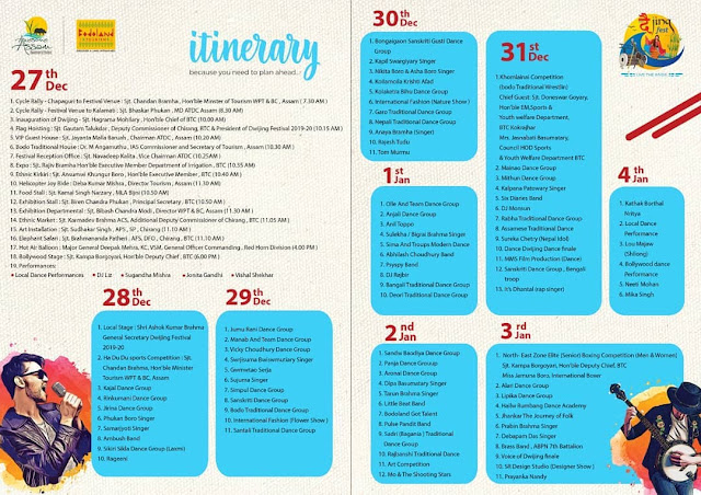Dwijing Fest Schedule 2021-22