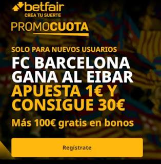 betfair promocuota Barcelona gana Eibar 29 diciembre 2020