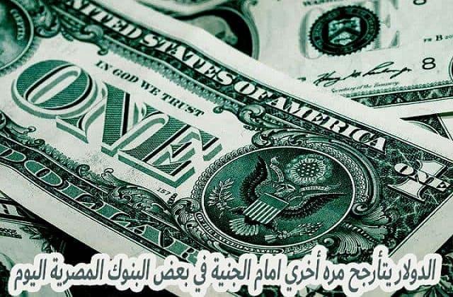 الدولار يتأرجح مره أخري امام الجنية في بعض البنوك المصرية اليوم