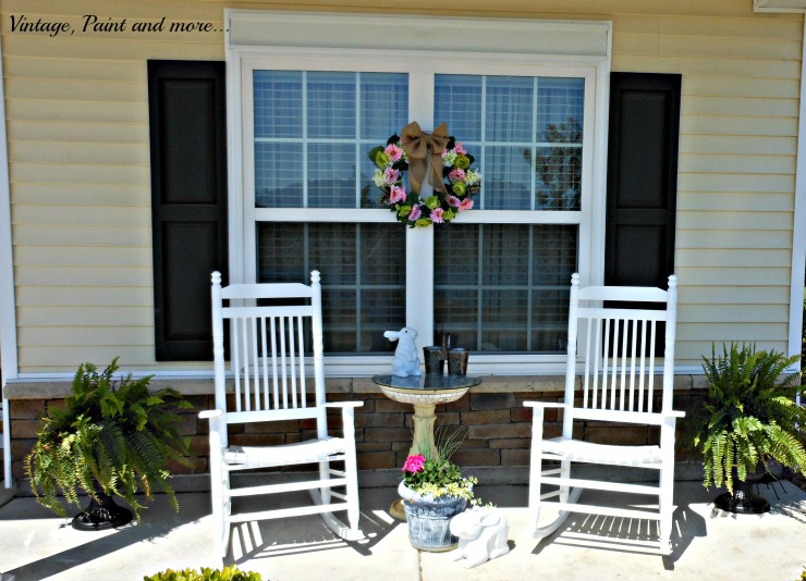 Vintage, Paint and more... changing plastic urns with paint for a vintage southern porch