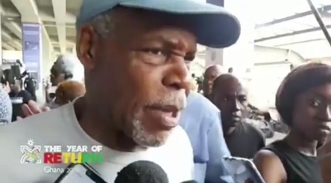 American actor Danny Glover arrives in Ghana for 'Jamestown to Jamestown'