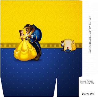 Cajas de Fiesta de La Bella y la Bestia para imprimir gratis.