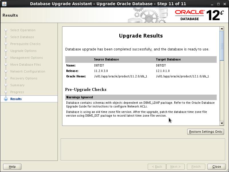 The Momen Blog: Upgrading Oracle Database 11 2 0 3 to 12 1 0