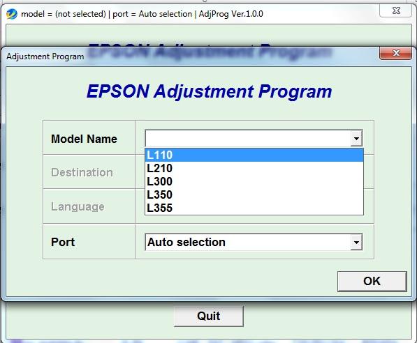Epson L310 Adjustment Program Download