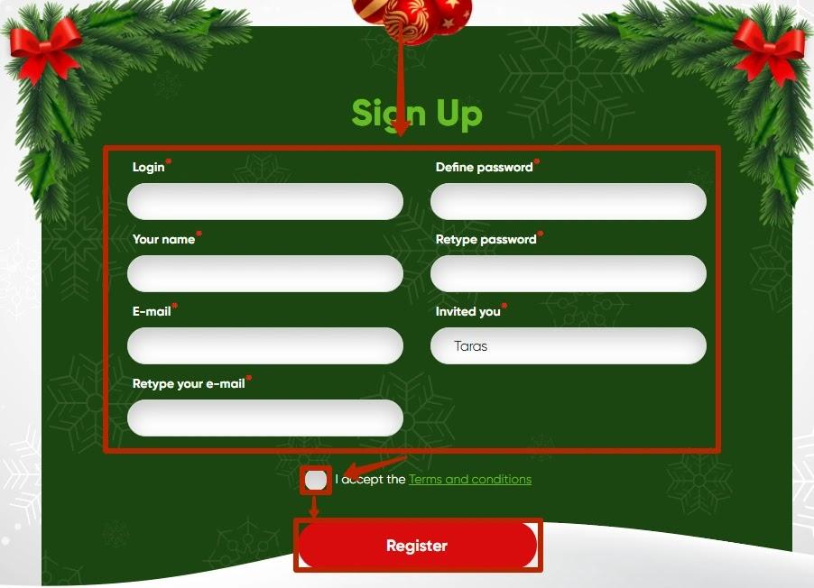 Регистрация в Top Year 2