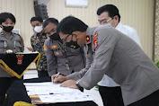 Salurkan Tenaga Kerja Purnabakti, Polda Banten Teken Mou dengan Disnakertrans