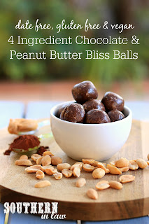 4 ingredient Chocolate Peanut Butter Bliss Balls Recipe