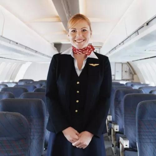 This German flight attendant is very elegant