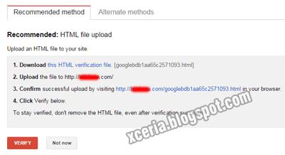 Daftar Google Webmaster - Verifikasi 1