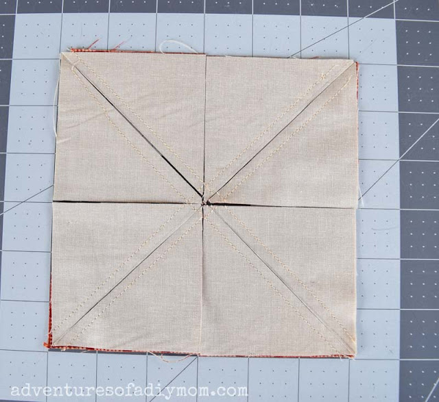 fabric cut into triangles