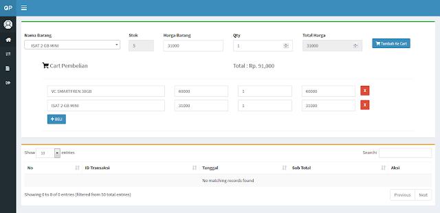 Aplikasi POS Penjualan Konter dengan CI
