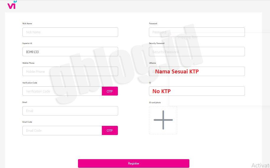 Form Daftar Vtube terbaru