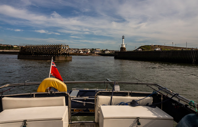 Photo of Ravensdale leaving Maryport on Saturday afternoon