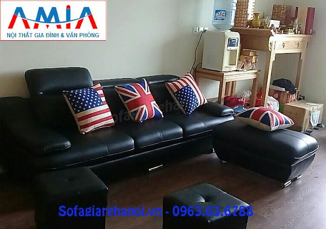 Hình ảnh mẫu ghế sofa văng đẹp là mẫu bàn ghế phòng khách nhỏ đang rất được yêu thích hiện nay